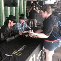 Christina J. getting guitar signed at Rock on the Range