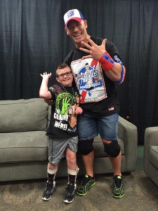 Cole Q. with Special Hero John Cena