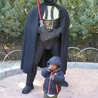 Nehemiah W-C. with Darth Vadar